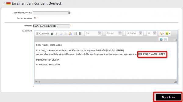 E-Mail zur Online-KVA-Annahme S