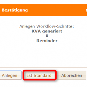 Standardschritt Workflow