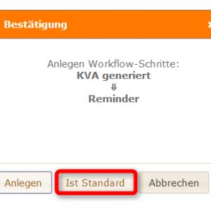 Standardschritt Workflow