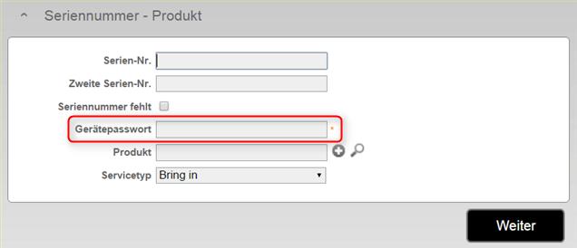 Reparatur Gerätedaten mit Passwort